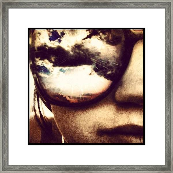 #sunglasses #me #myself #effects #edits Framed Print