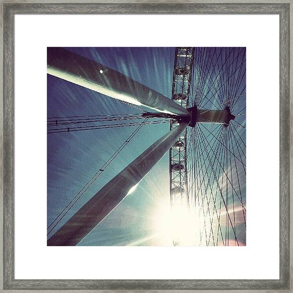 Sunnd Day In London, London Eye Framed Print