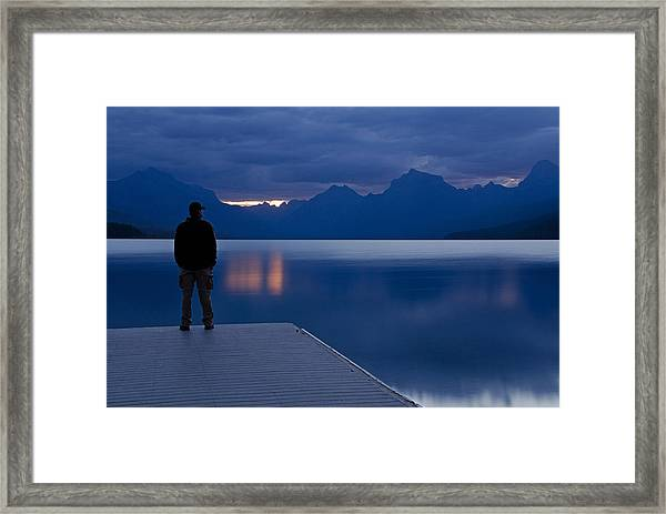 Sunrise At Apgar Framed Print