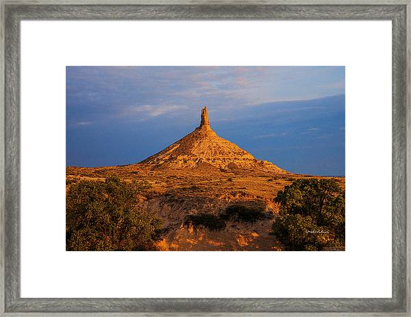 Sunrise At Chimney Rock Framed Print