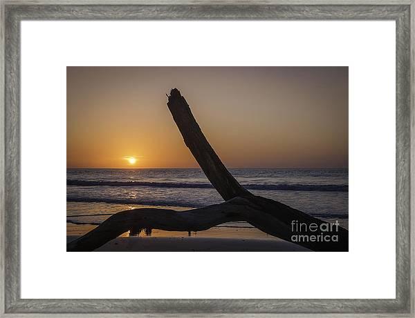 Sunrise Hunting Island Framed Print