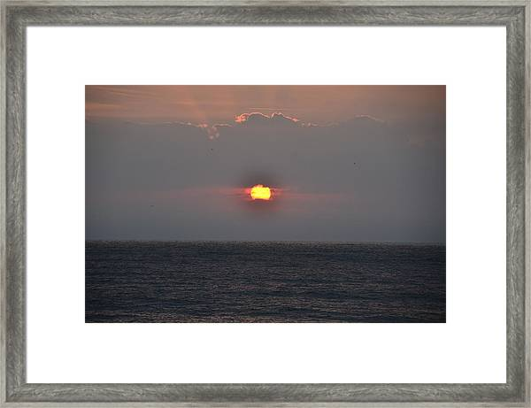 Sunrise In Melbourne Fla Framed Print