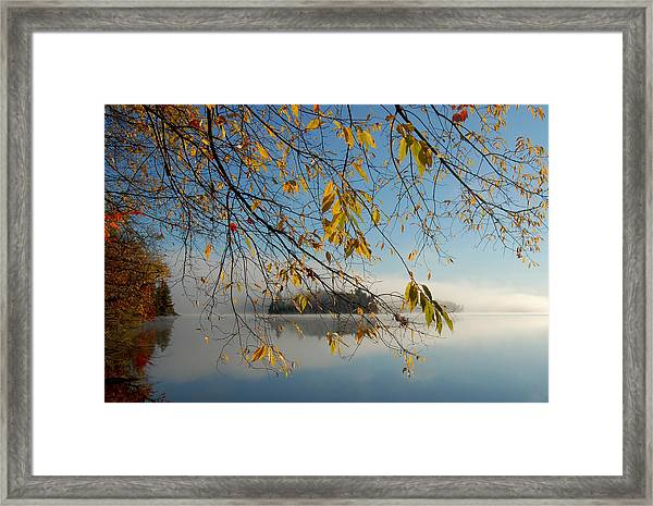 Sunrise On Low's Lake Framed Print