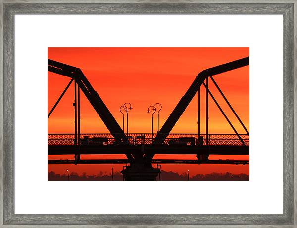 Sunrise Walnut Street Bridge Framed Print