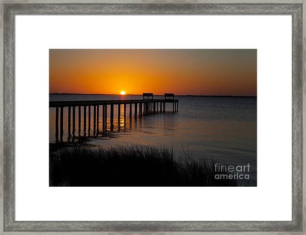 Sunset Across Currituck Sound Framed Print