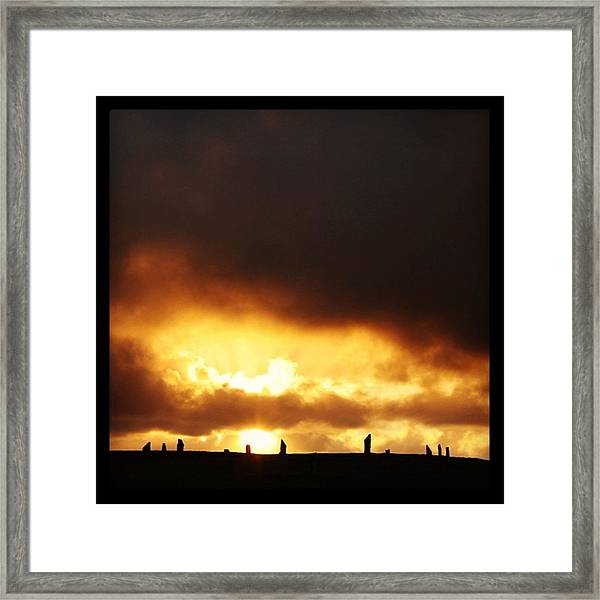 Sunset After The Storm Framed Print