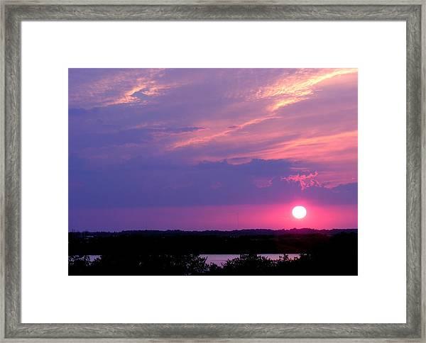 Sunset At Merritt Island Framed Print