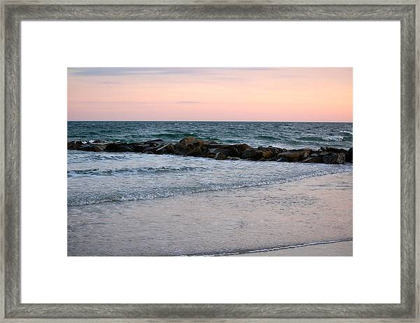 Sunset Colors The Atlantic Sky Framed Print
