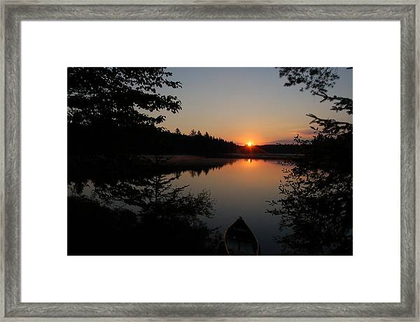 Sunset Evening Framed Print