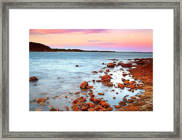 Sunset Moon Framed Print
