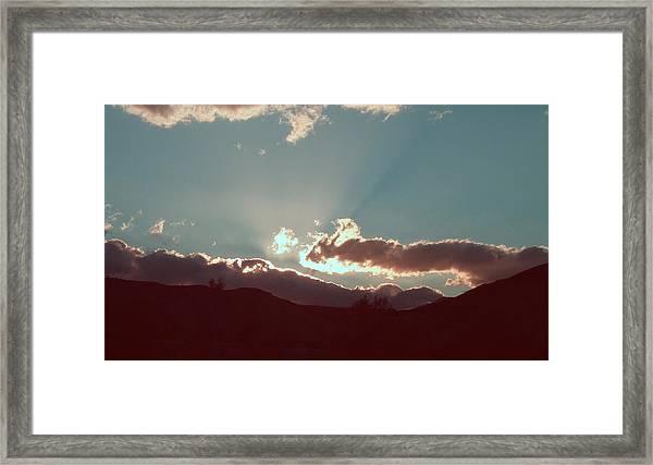 Sunset Framed Print by Naxart Studio