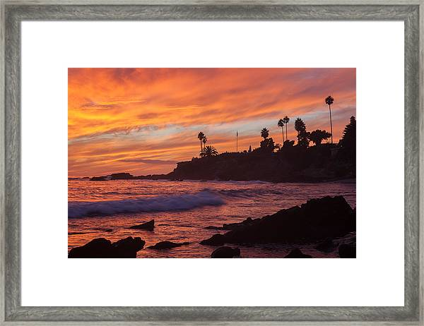 Sunset Off Laguna Beach Framed Print
