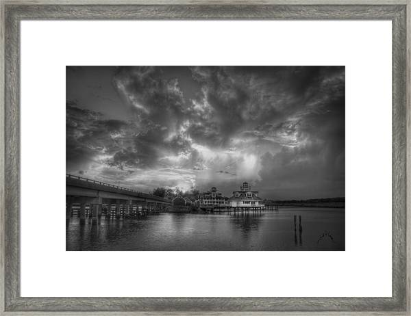 Framed Print featuring the photograph Sunset On Smithfield Station by Williams-Cairns Photography LLC