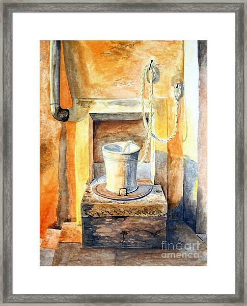 Sunset On The Old Well  Framed Print by Eleonora Perlic