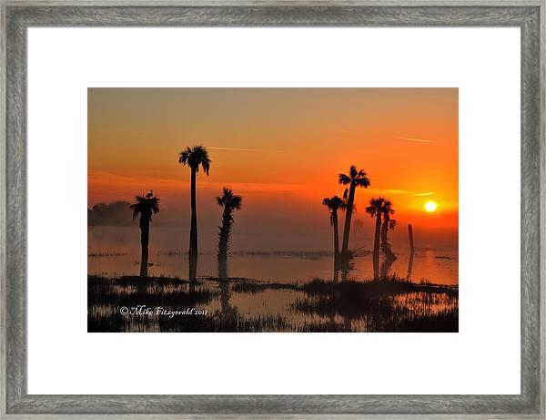 Sunset On Viera Wetlands Framed Print