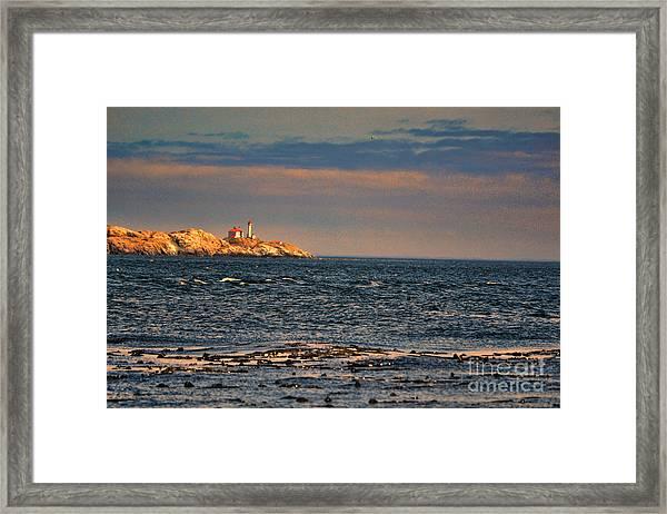 Sunset Over British Columbia Framed Print