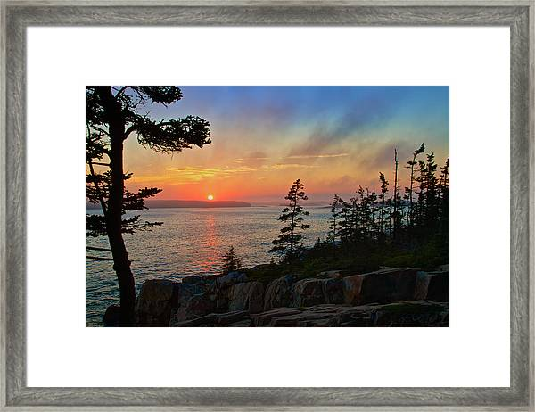 Sunset Over Frenchman's Bay Framed Print