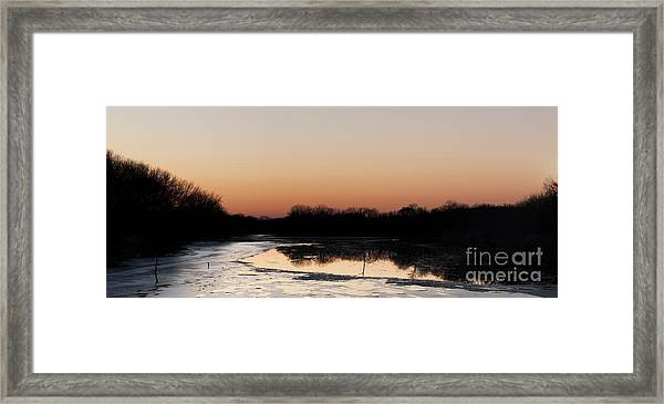 Sunset Over The Republican River Framed Print