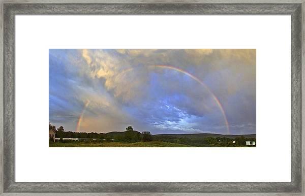 Sunset Rainbow Framed Print