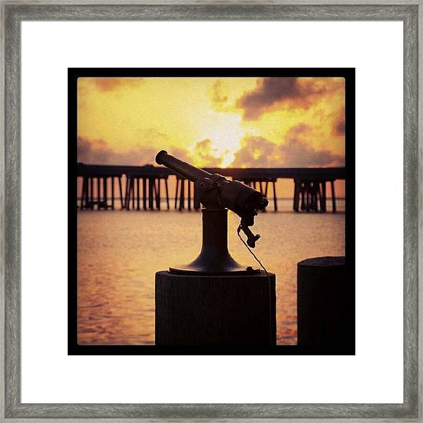 Sunset Sounder Framed Print