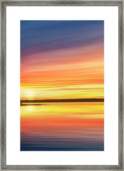 Sunset Stratas Framed Print