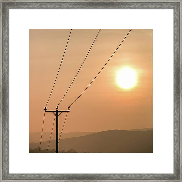 Sunset Telecoms Framed Print by Peter Chadwick LRPS