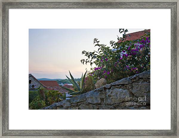 Sunsetting Over Hvar Framed Print