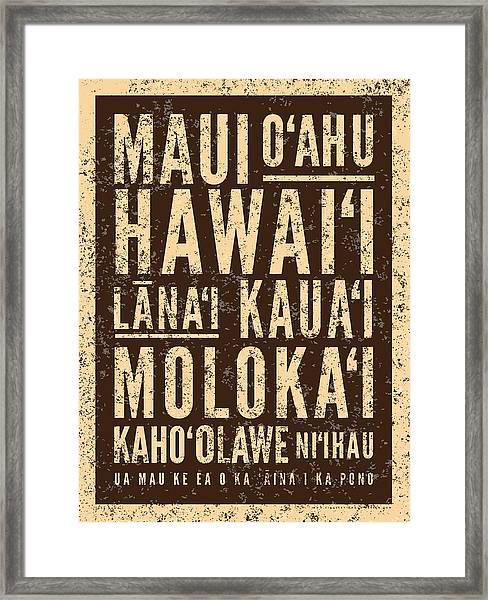 Surf Hawaiian Islands Framed Print