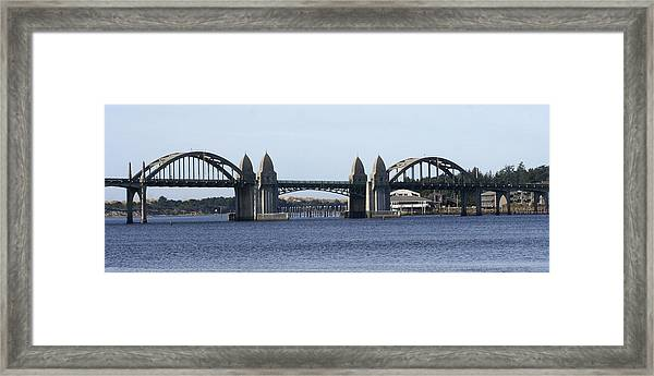 Suslaw Bridge Panorama Framed Print by Mary Gaines