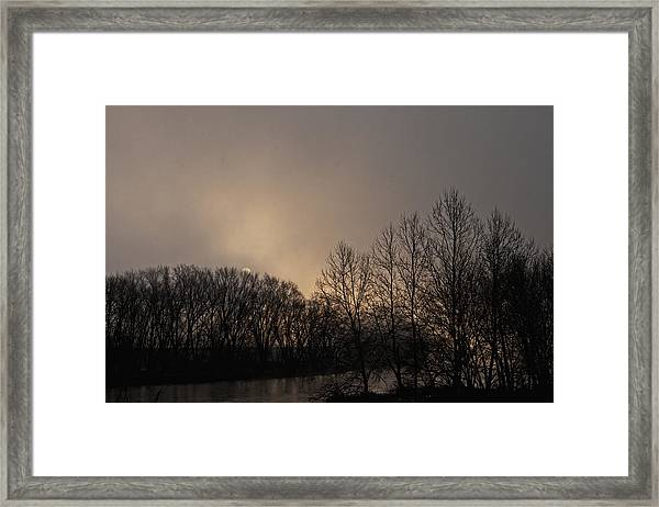 Susquehanna River Sunrise Framed Print