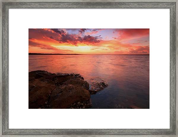 Swan Bay Sunset 2 Framed Print