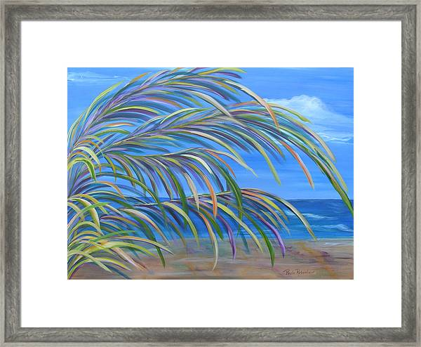 Swaying In The Breeze Framed Print