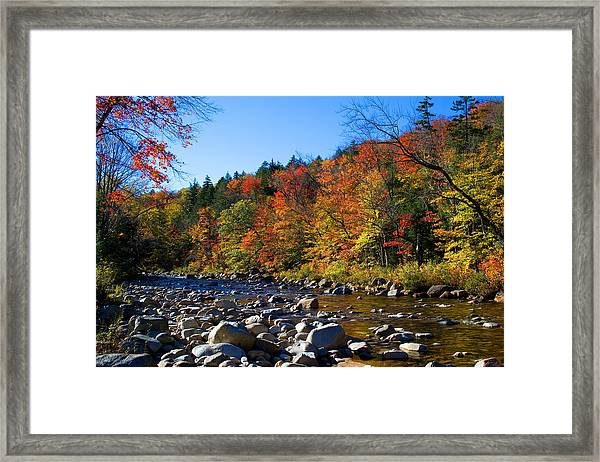 Swift River In Autumn Framed Print