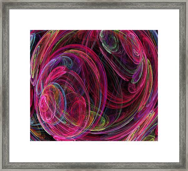 Swirling Energy Framed Print