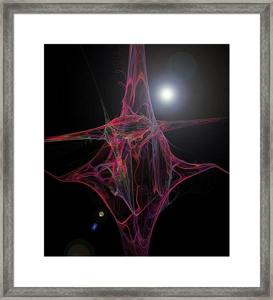 Swirly Framed Print