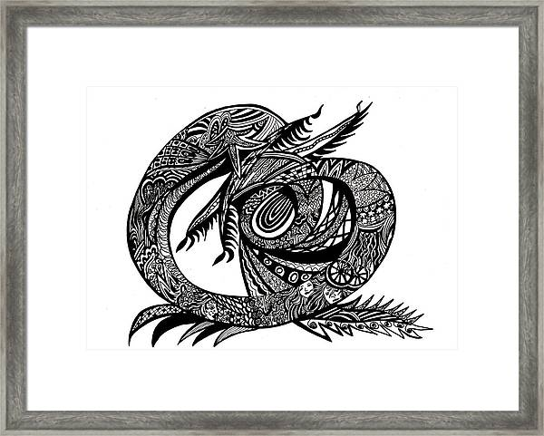 Symbol Of The Dragon Framed Print