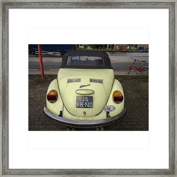 Symmetry #vw #volkswagen #vintage Framed Print