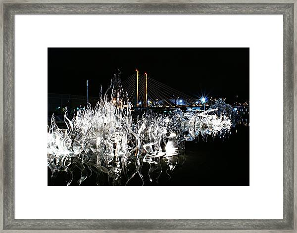 Tacoma Museum Of Glass Outdoor Sculpture Framed Print