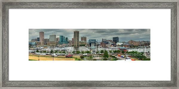 Tall Ships At Baltimore Inner Harbor Framed Print
