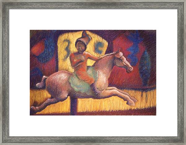 Tang Horsewoman Framed Print