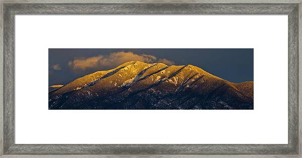 Taos Mountain Framed Print