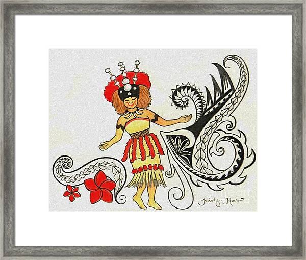 Taupou Samoa Drawing By Kristy Mao