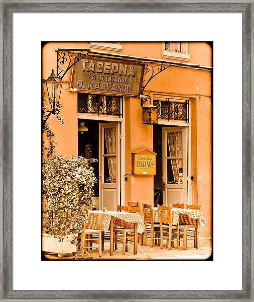Athens, Greece - Taverna Framed Print