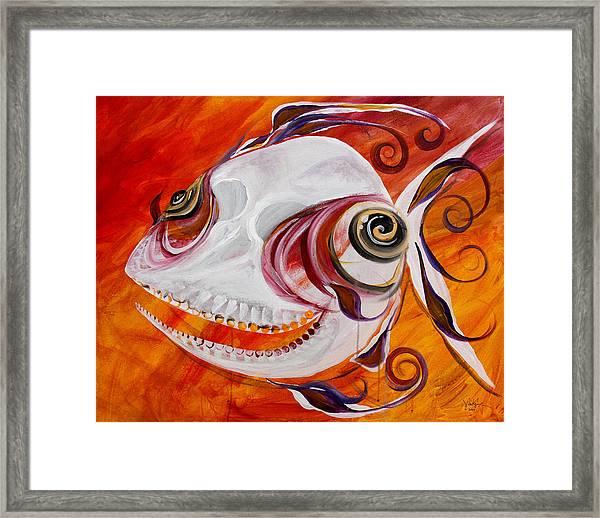 T.b. Chupacabra Fish Framed Print