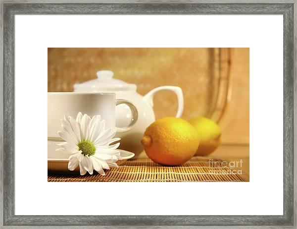 Tea And Lemon Framed Print