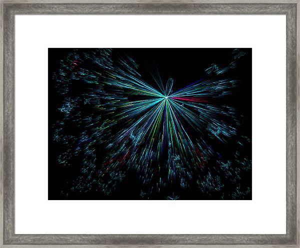 Teal Star Framed Print by Joshua Dwyer