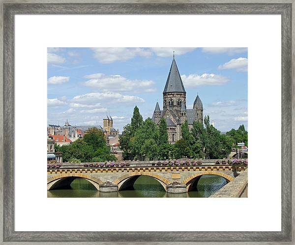 Temple Neuf De Metz Metz France Framed Print