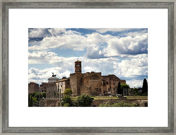 Temple Of Venus And Roma Framed Print
