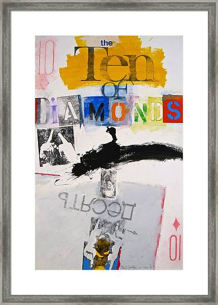 Ten Of Diamonds 24-52 Framed Print