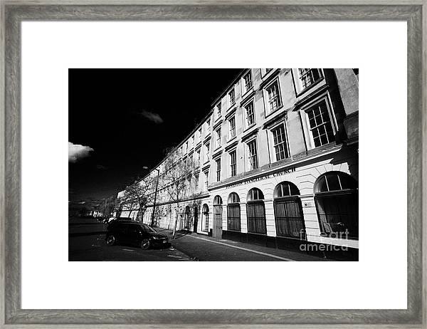 tenement block on minerva street finnieston Glasgow Scotland UK Framed Print by Joe Fox